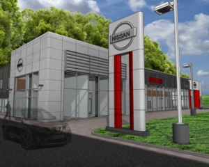 Cole Nissan Used Car Sales Building Addition