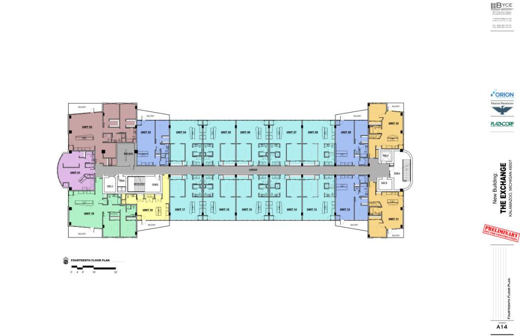The Exchange 14th Floor Plan