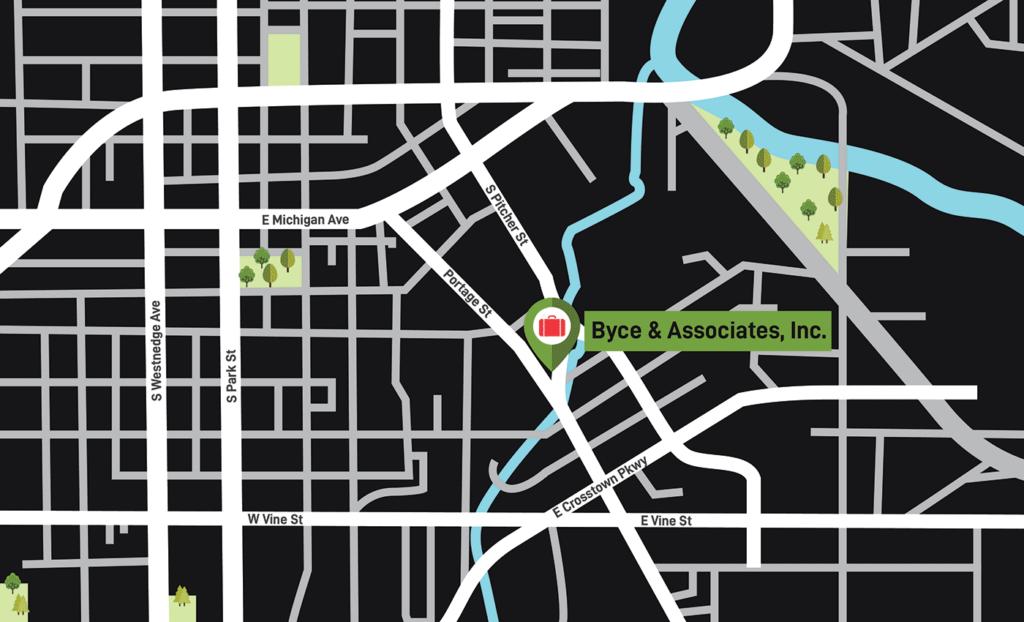 Byce & Associates, Inc. Kalamazoo map